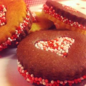 Μπισκότα γεμιστά με Γκανας